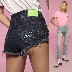 Levi's 501 Hailey Baldwin Custom Jean Shorts